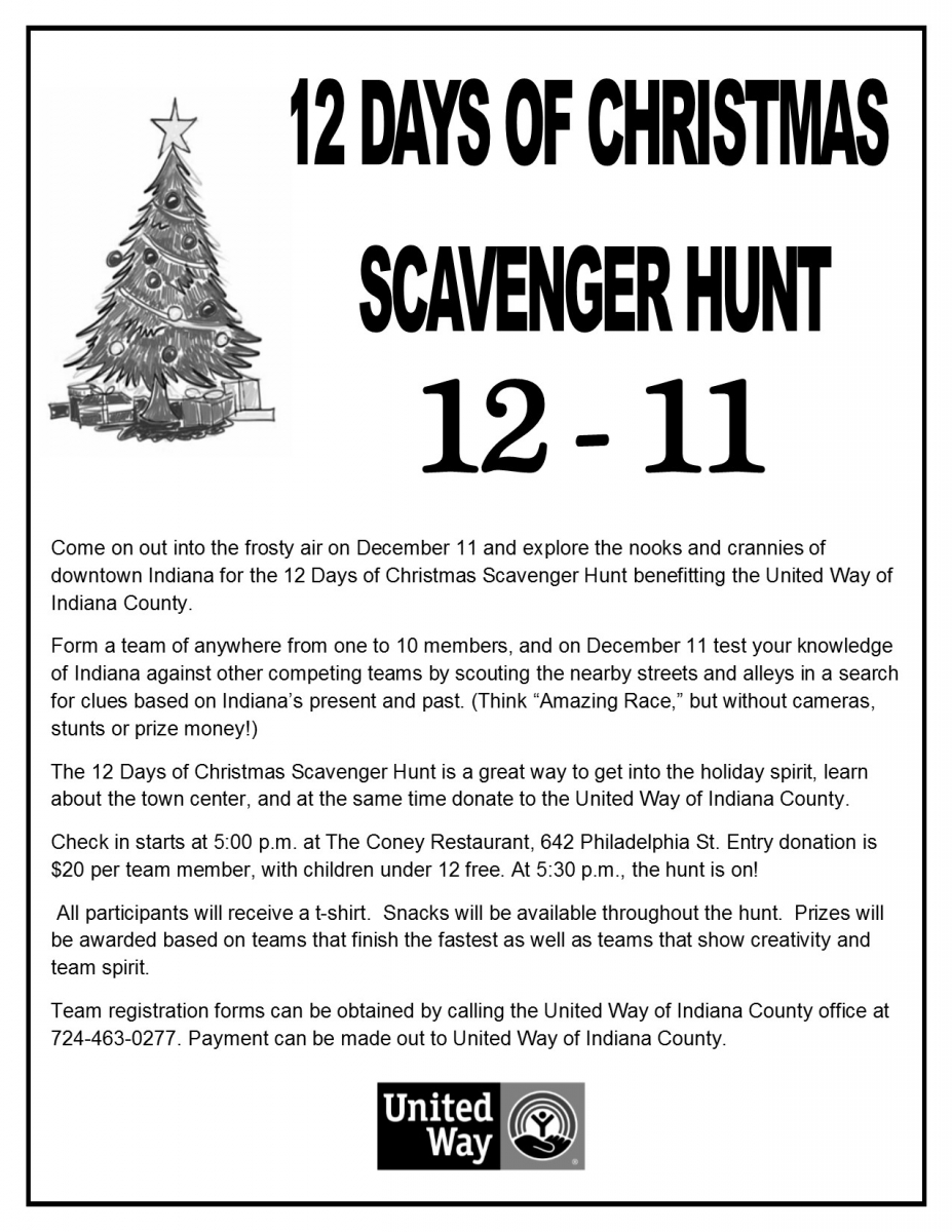 2015 Scavenger Hunt | United Way of Indiana County
